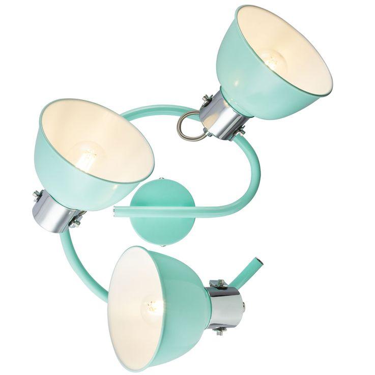 Ceiling Spot Lamp Working Room Rondell Mint Green Luminaire Office Spotlight Adjustable  Globo 54641-3 – Bild 6