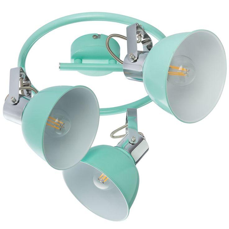 Ceiling Spot Lamp Working Room Rondell Mint Green Luminaire Office Spotlight Adjustable  Globo 54641-3 – Bild 4