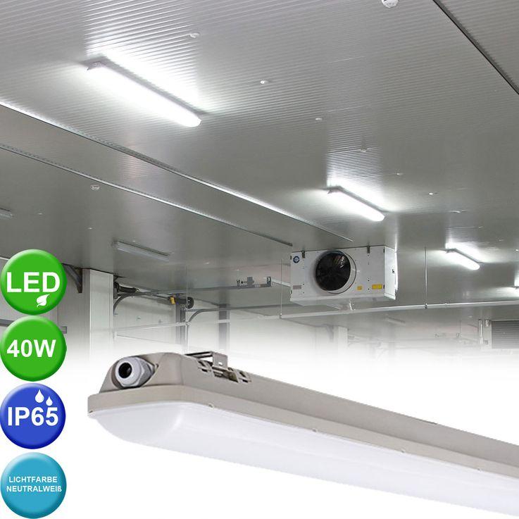 40 Watt SMD LED Wannen Leuchte 4000K Tages Licht Lager Halle Industrie Feucht Raum Kanlux 22604 – Bild 2