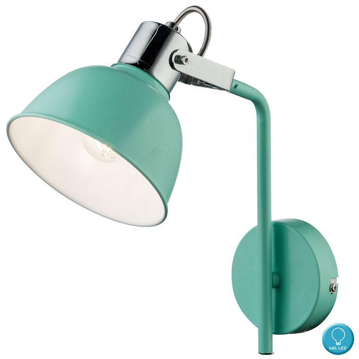 LED wall lamp with adjustable spot in mint green ROLI – Bild 1