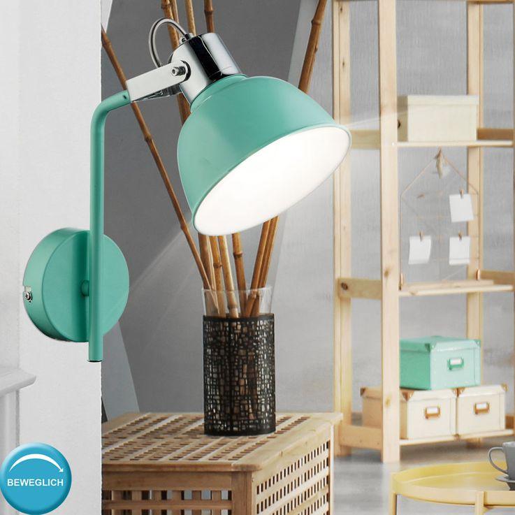 LED wall lamp with adjustable spot in mint green ROLI – Bild 3