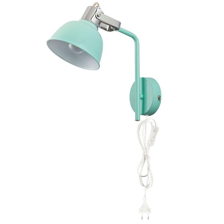 LED wall lamp with adjustable spot in mint green ROLI – Bild 5