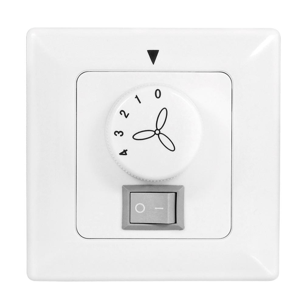 Wall Switch White Ceiling Fans 4 Speed ​​Steps Surface-mounted Light Regulator LuxVen LV-R10