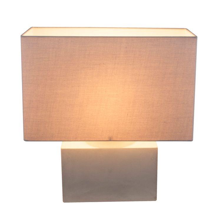 Table Beistell Lampe Sommeil Chambre Lampe De Lecture Béton Textile Shade  Globo 21702 – Bild 1