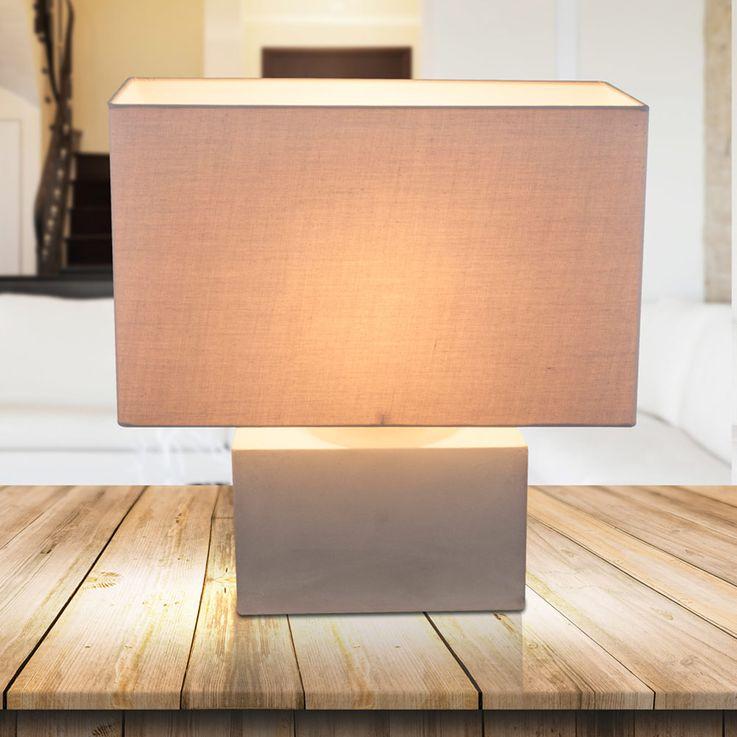 Table Beistell Lampe Sommeil Chambre Lampe De Lecture Béton Textile Shade  Globo 21702 – Bild 3