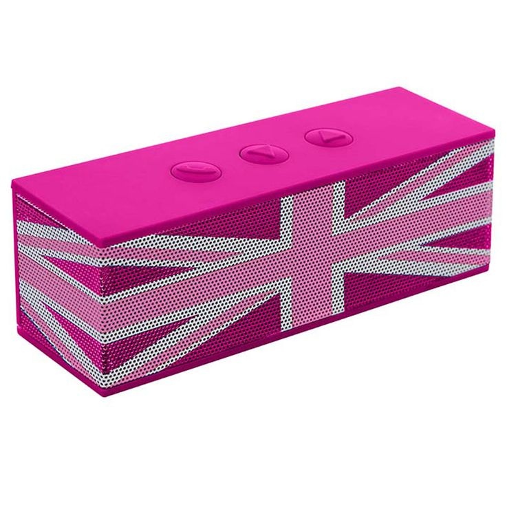 Music Speaker Box Bluetooth Girl Union Flag Subwoofer Pink Big Ben BT01GBGIRLY – Bild 1