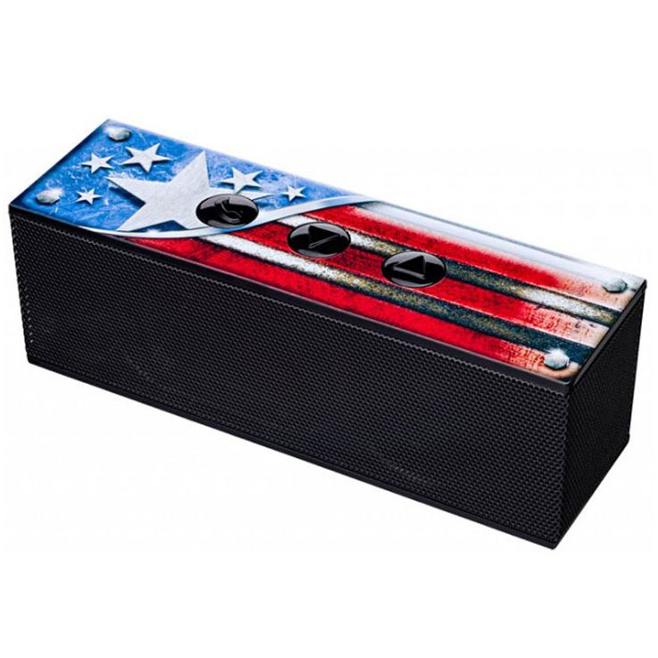 Music Box Bluetooth BATTERY Speaker USA Design Party Subwoofer 1.5  inch Big Ben BT01USA – Bild 1