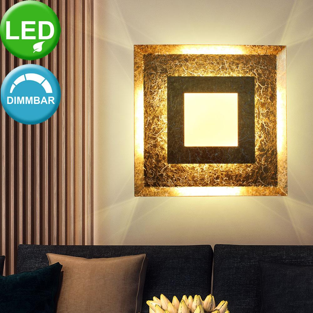 LED wall sconce, gold leaf design, 3-step dimmer, WINDOW Lamps ...