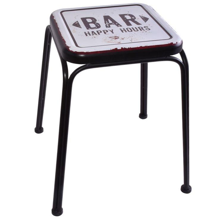 Design Side Stool Seat Furniture Chair Bar Imprint Black Living Dining Room  Noor 77016 – Bild 1