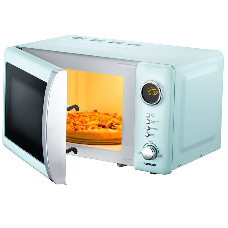 Retro Microwave 700 Watt Glass Rotary Plate Clock Timer Childproof Baby Blue  Melissa 16330110 – Bild 3