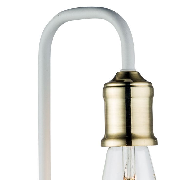 Wall lamp, brass, white, height 36 cm, LUDWIG – Bild 4