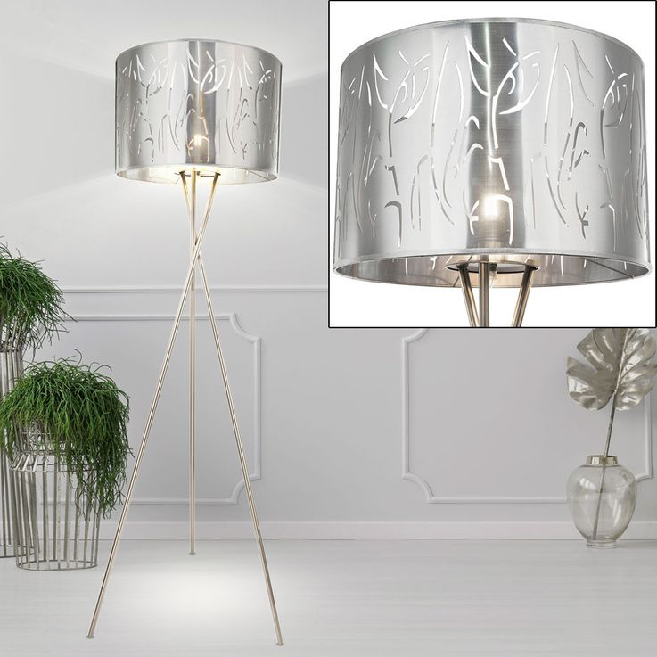 Luxury Stand Lamp Tripod Sleep Room Ceiling Floodlight Decor Pattern Stand Lamp  Globo 15360S1 – Bild 3