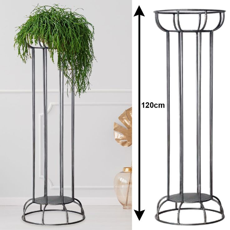 Plant Stands Shelf Flowers Stair Holder Interior Outdoor Column Antique Gray H 120 cm  Harms 315168 – Bild 2