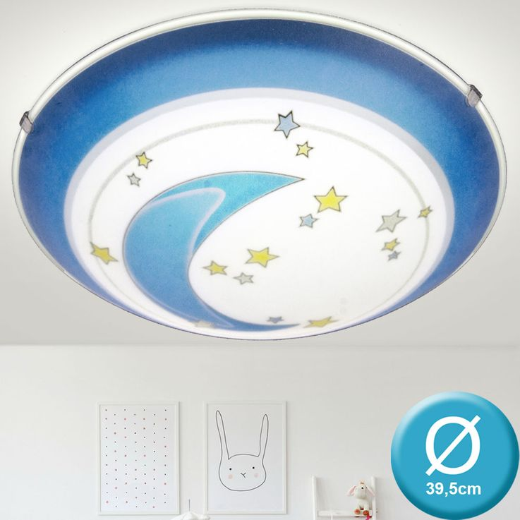 Ceiling lamp lighting kids game room moon star motif blue round EGLO 78185 – Bild 3