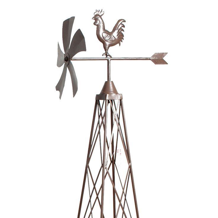3er Set Wind Räder Mühlen Rank Gitter Hilfen Garten Außen Dekoration Wetter Hahn Harms 504335 – Bild 8