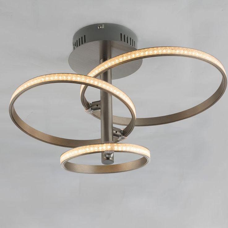 Plafonnier LED en argent avec cristaux, WAVE – Bild 4
