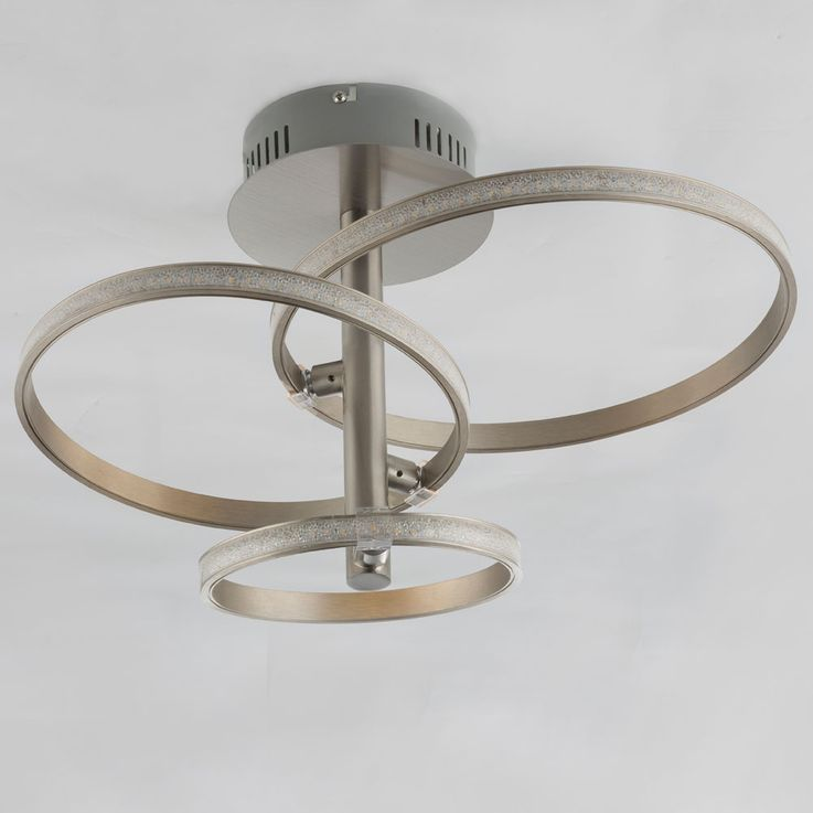 LED ceiling light in silver with crystals, WAVE – Bild 5