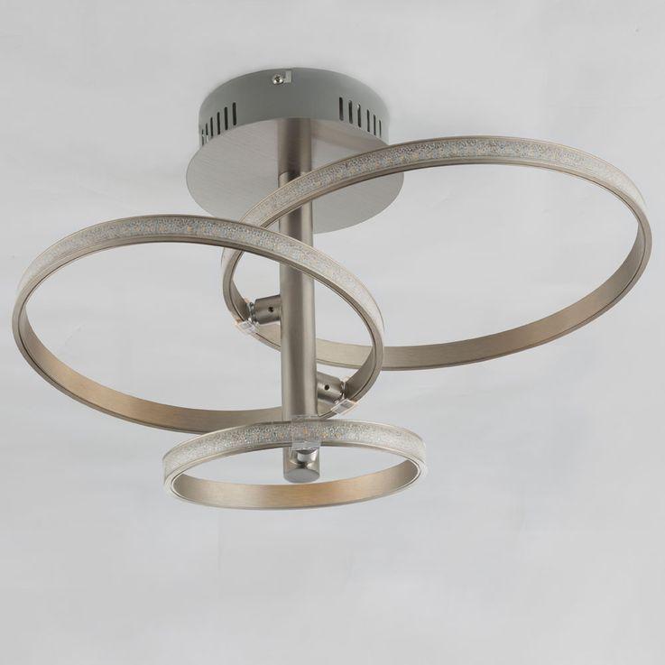 Plafonnier LED en argent avec cristaux, WAVE – Bild 5