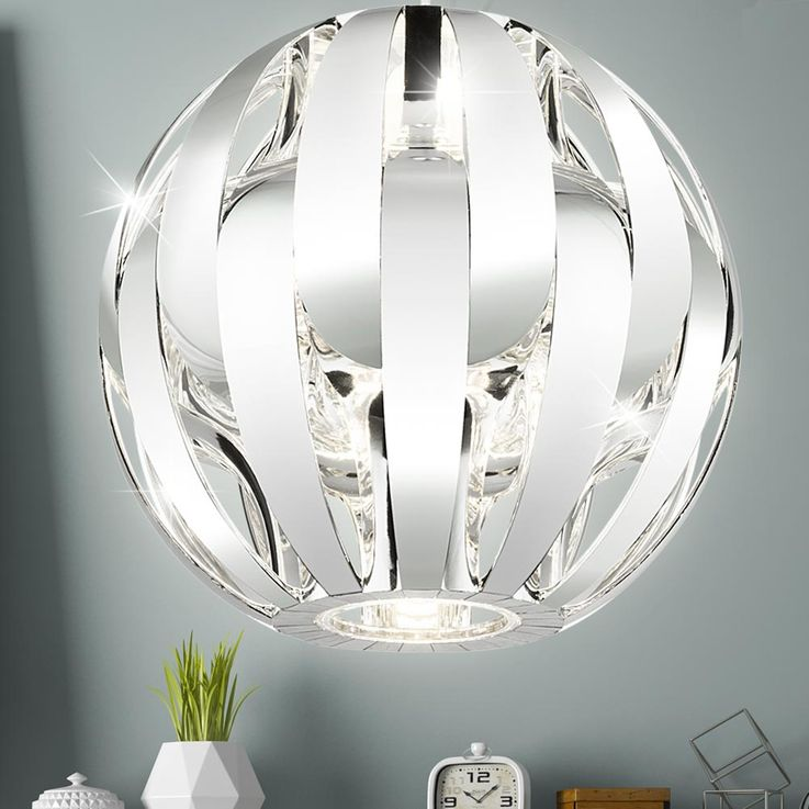 Luxury Pendulum Hanging Lamp Sleep Guest Room Ceiling Spotlight Chrome Ball  Globo 15021C – Bild 3