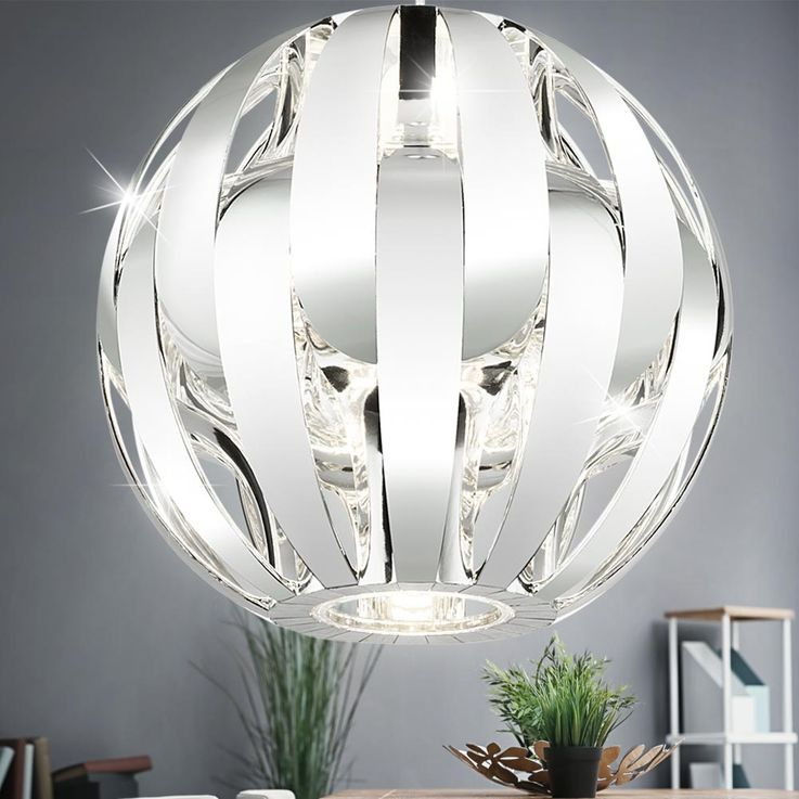 Luxury Pendulum Hanging Lamp Sleep Guest Room Ceiling Spotlight Chrome Ball  Globo 15021C – Bild 2