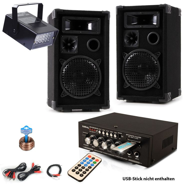 PA Party Music System Boxes Amplifier USB MP3 SD Bluetooth Disco Strobe DJ  -Future 5 – Bild 1