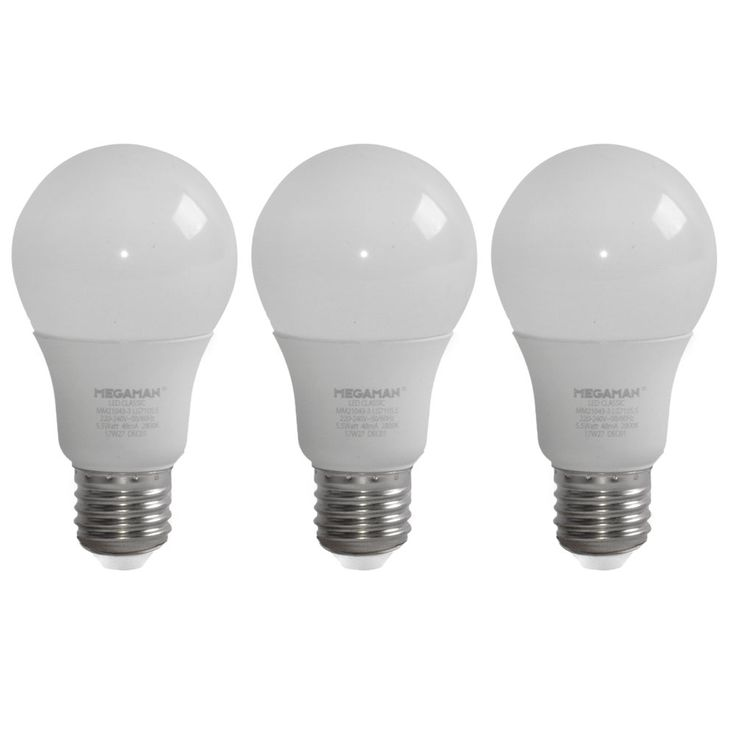 3er Set LED Leuchtmittel 5,5 Watt Glüh Birnen Lampen 470 Lumen 2800 Kelvin warmweiß EEK A+ – Bild 1