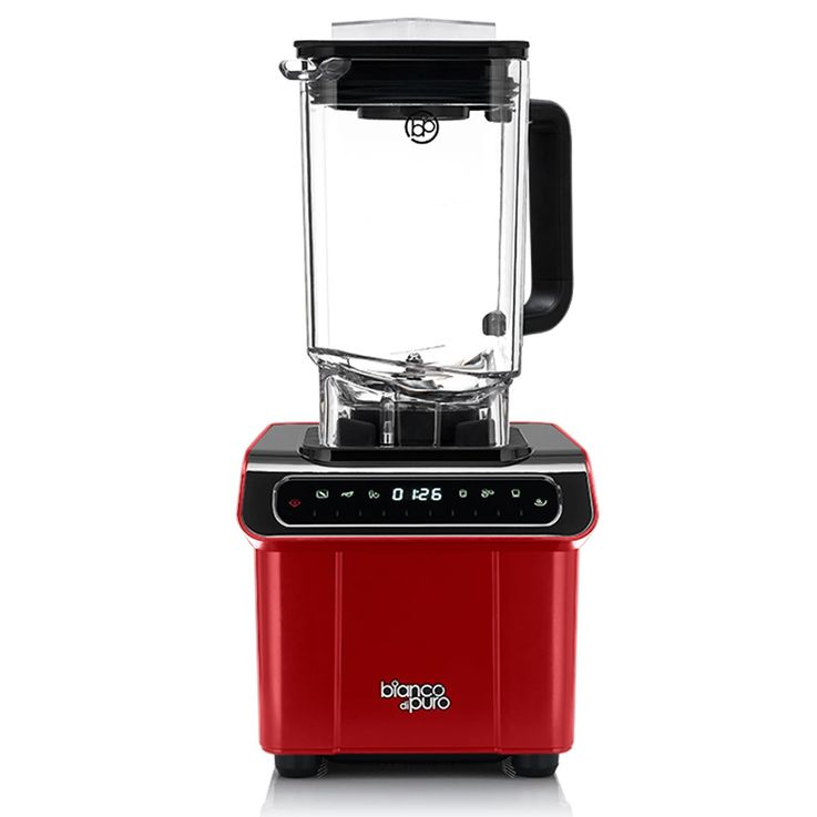 1200W Stand Mixer Touch-Bedienfeld 6 Progamme Frucht-Smoothie Suppen rot 1,7L – Bild 1