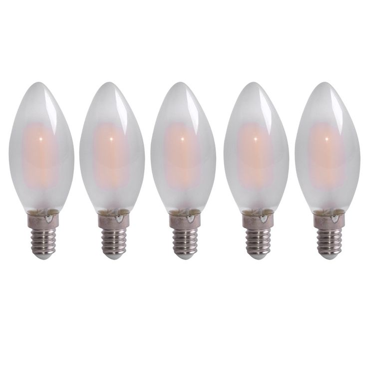 Set of 5 LED 4 Watt filament E14 bulbs, 470 lumens – Bild 1