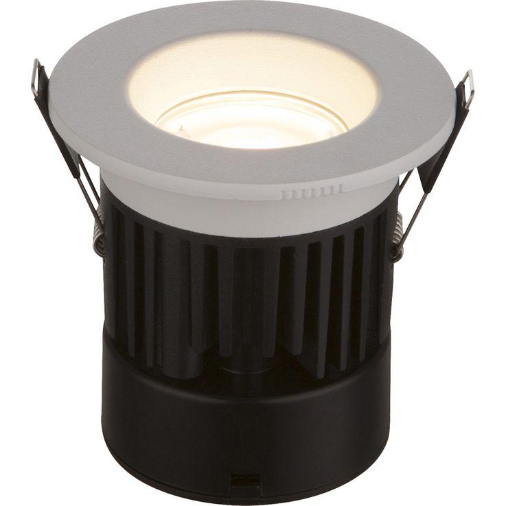 LED Einbaustrahler INAKIR weiß dimmbar,IP65,Ausschnitt 6,8cm,EinbauH:8cm EEK: A – Bild 1