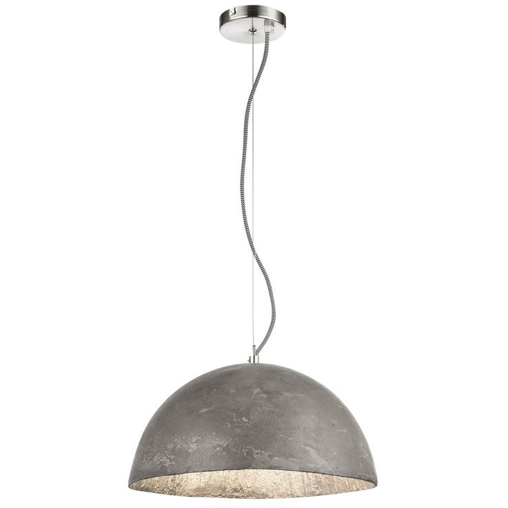Design pendant ceiling light concrete living dining room lighting hanging lamp silver  Globo 15249 – Bild 1
