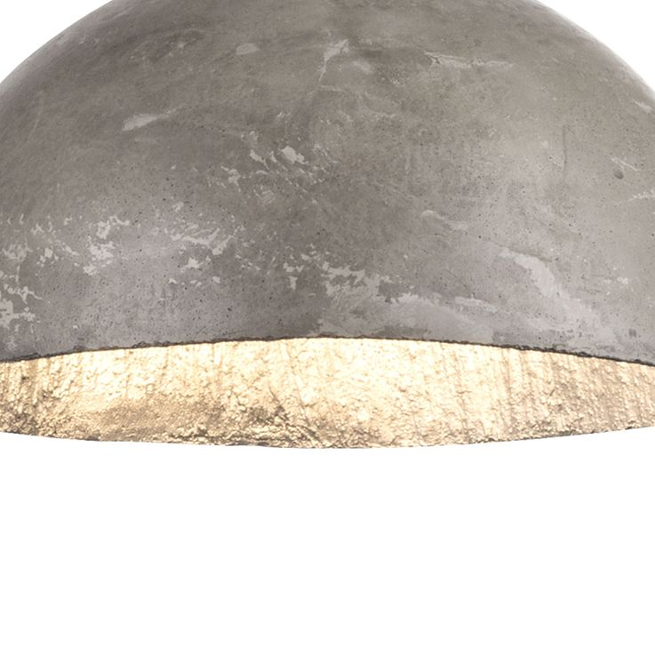 Design pendant ceiling light concrete living dining room lighting hanging lamp silver  Globo 15249 – Bild 4
