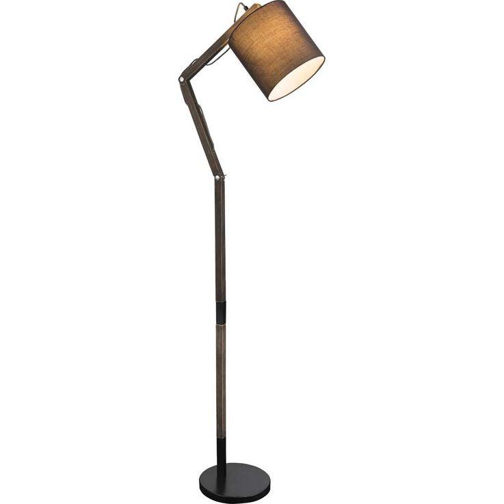 LED Holz Steh Lampe Wohn Zimmer Beleuchtung ALU Gelenk Stand Leuchte beweglich