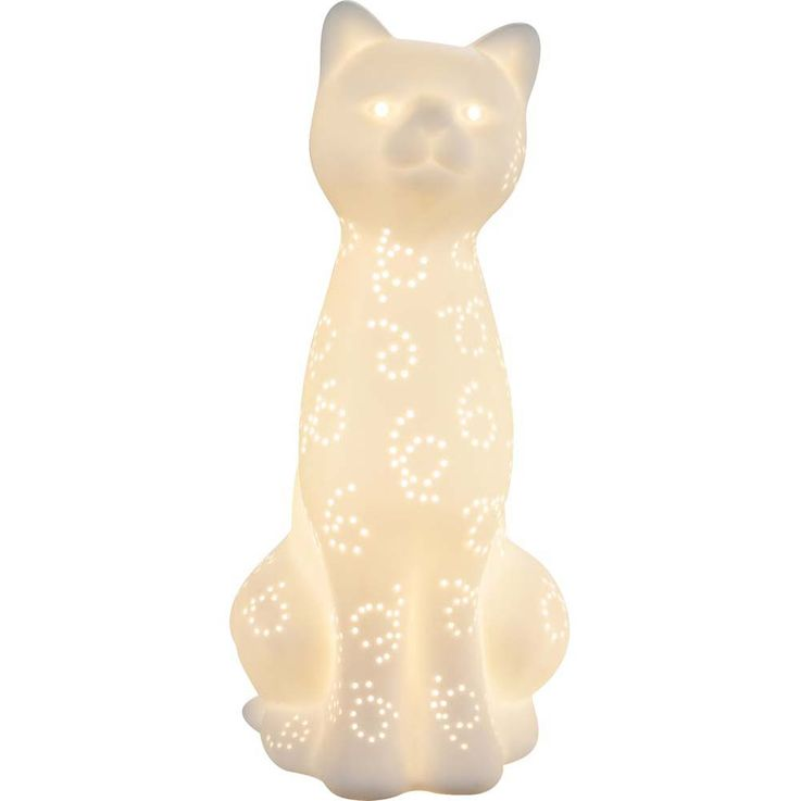 Table lamp cat matt cable 1,8 m porcelain white decoration lighting animal design Globo 22805 – Bild 9