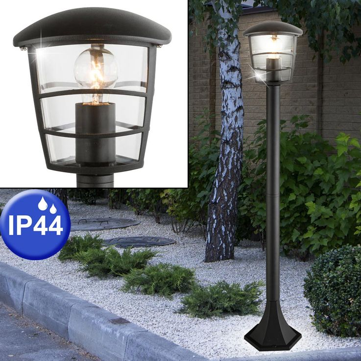 Outdoor Pedestal Lighting Stand Lamp ALU Stand Terrassen Park Lamp black  Globo 31838 – Bild 2
