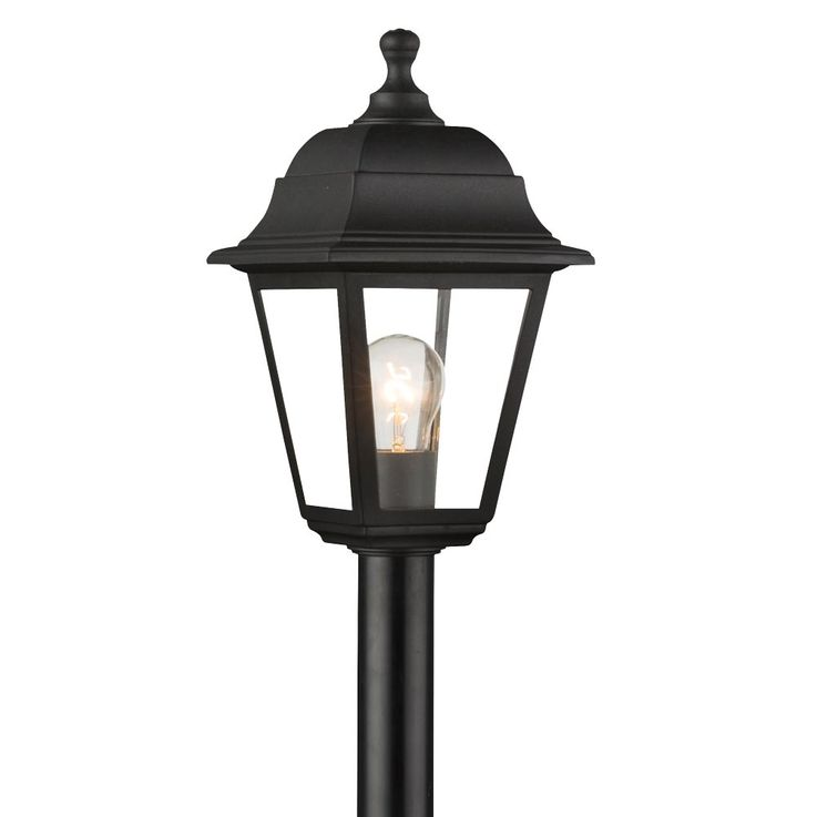 Outdoor stand lamp garden way outdoor lighting terraces pedestal lantern lamp black  Globo 31888 – Bild 4