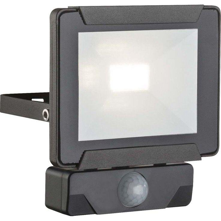 LED Außenleuchte URMIA Sensor 110°, Reichweite: 2-6m LED Baustrahler Alu klar – Bild 1