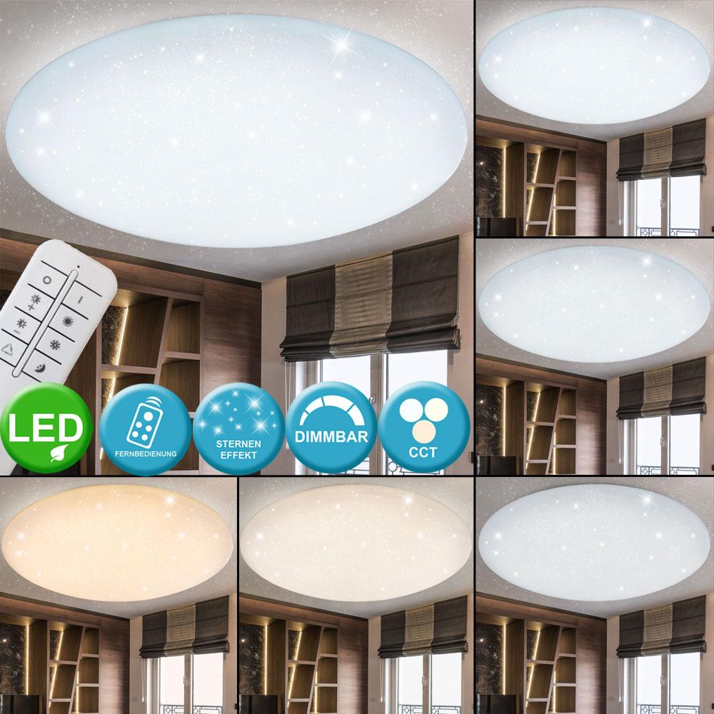 LED Decken Lampe Wohn Zimmer Fernbedienung Sternen Himmel Effekt Leuchte dimmbar