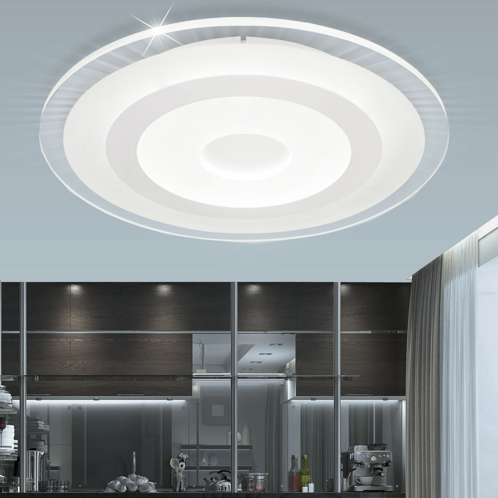 Led Ceiling Lamp Round Clear 3 Level