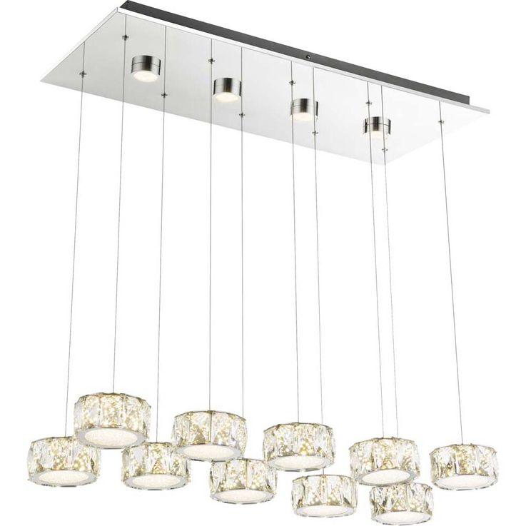 LED Hängeleuchte AMUR, 96 Watt, 4 LED Spots in Deckenplatte – Bild 1