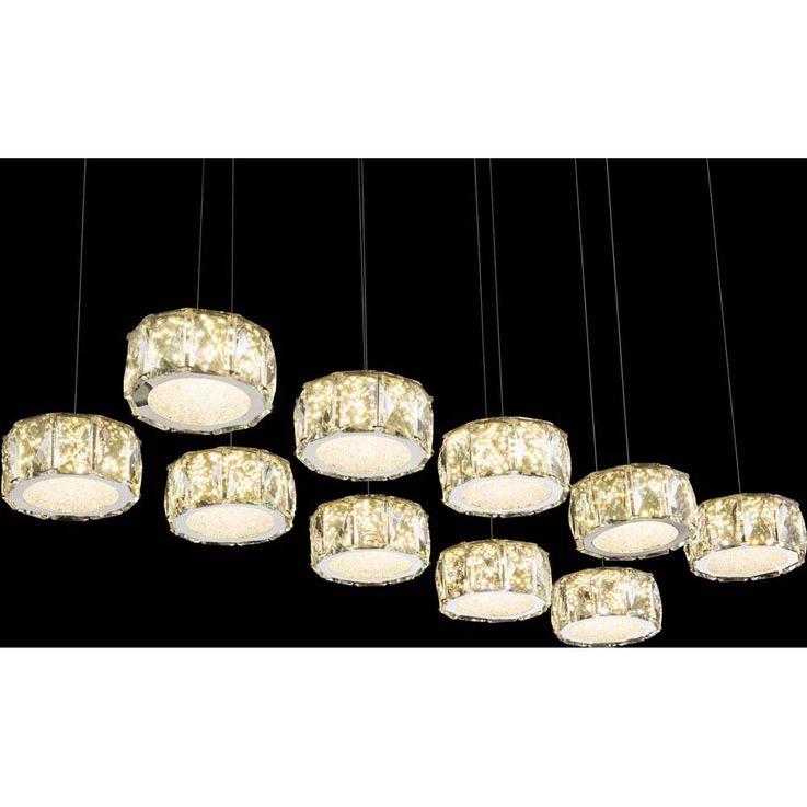 LED Hängeleuchte AMUR, 96 Watt, 4 LED Spots in Deckenplatte – Bild 7