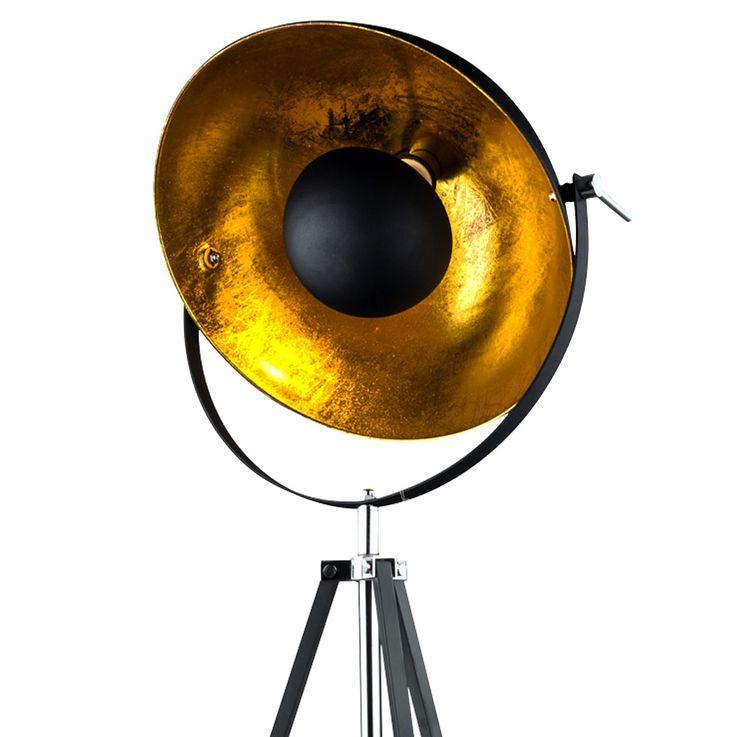 Steh Lampe Dielen Schein Werfer Decken Fluter Stativ Strahler Gold verstellbar Globo 58286 – Bild 4