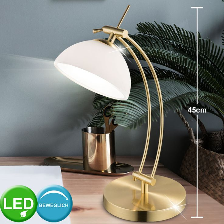 LED Desk Table Lamp Living Working Room Touch On / Off Brass Luminaire Portable  Globo 59041MT – Bild 2