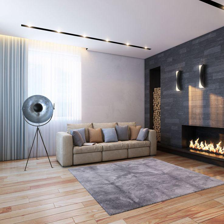 Tripod floor lamp in silver black, movable spot, SUNNY – Bild 5