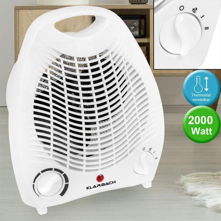 Heizstrahler mit Thermostat und Tragegriff – Bild 2