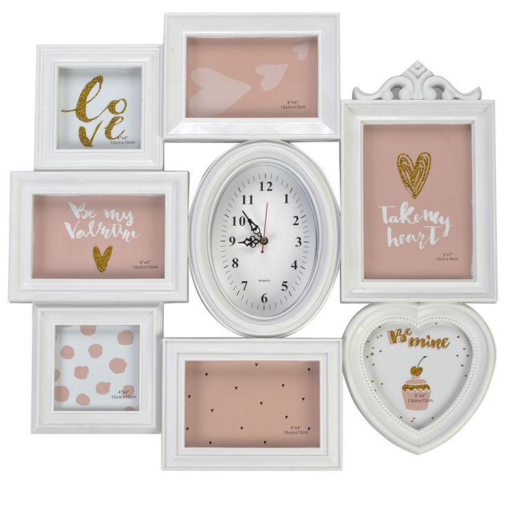 Photo Wall Clock Analog Time Display Gallery Living Room Pictures Frame Decoration  BHP B992189 – Bild 1