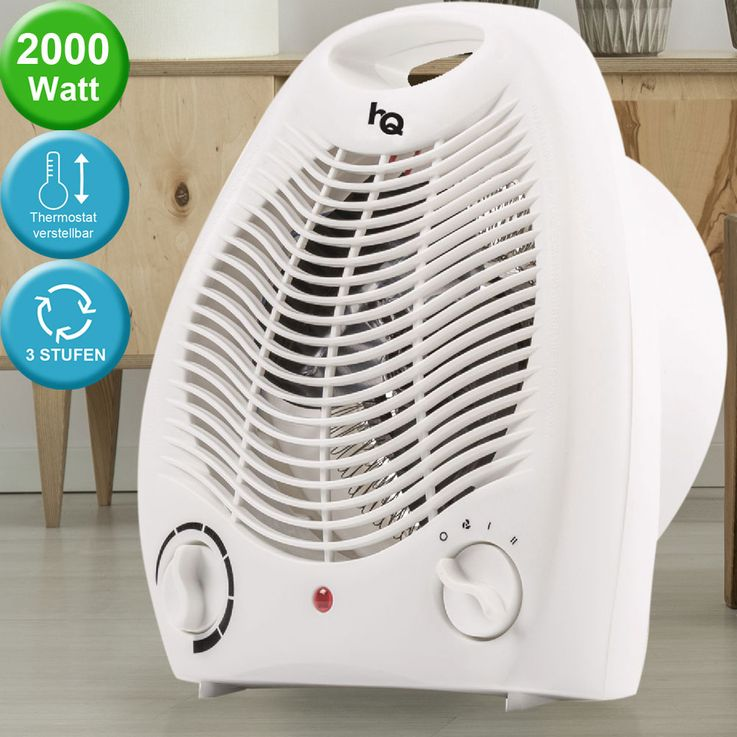 Heating Fan Bath Blower Unit Heat 2 levels 2000 W Distributor Handle white – Bild 2