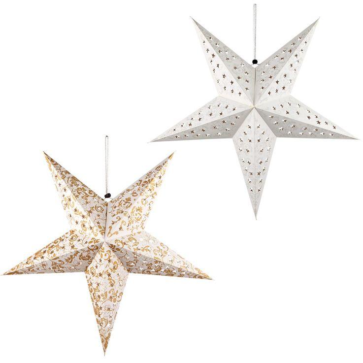 2er Set LED Weihnachtsstern Hängelampen, D 57 cm, X-MAS – Bild 1
