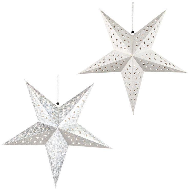 2er Set LED Weihnachtssterne Hängelampen,  D 57 cm, X-MAS – Bild 1