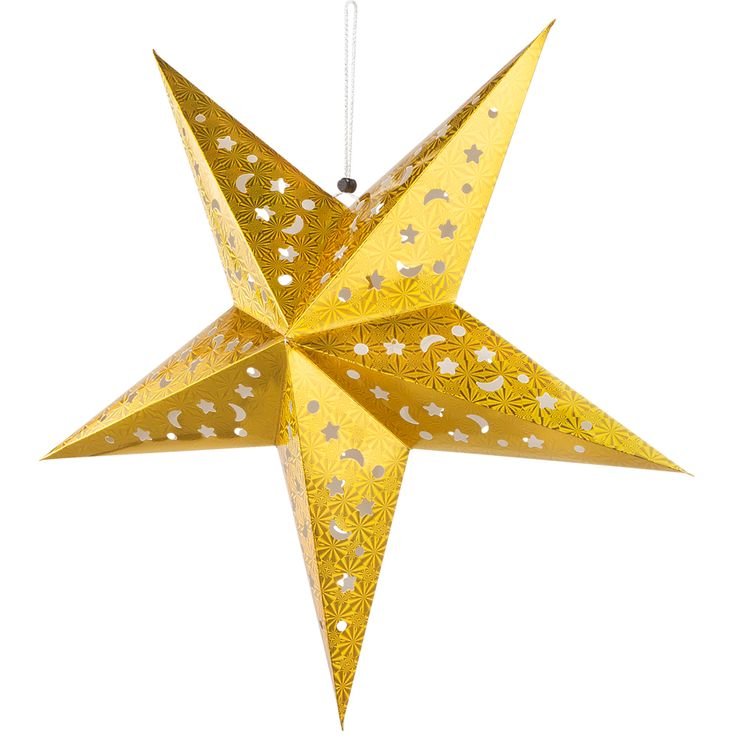 Set of 2 LED X  -MAS deco ceiling hanging lamps white silver christmas pendulum advent star gold – Bild 7