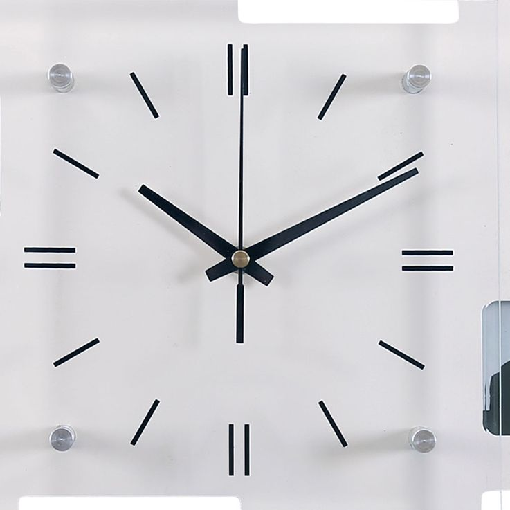 Photo Wall Clock 10x Images Frame Living Room Glass Clock Face Decoration Time Display BHP B991743  -3 – Bild 3
